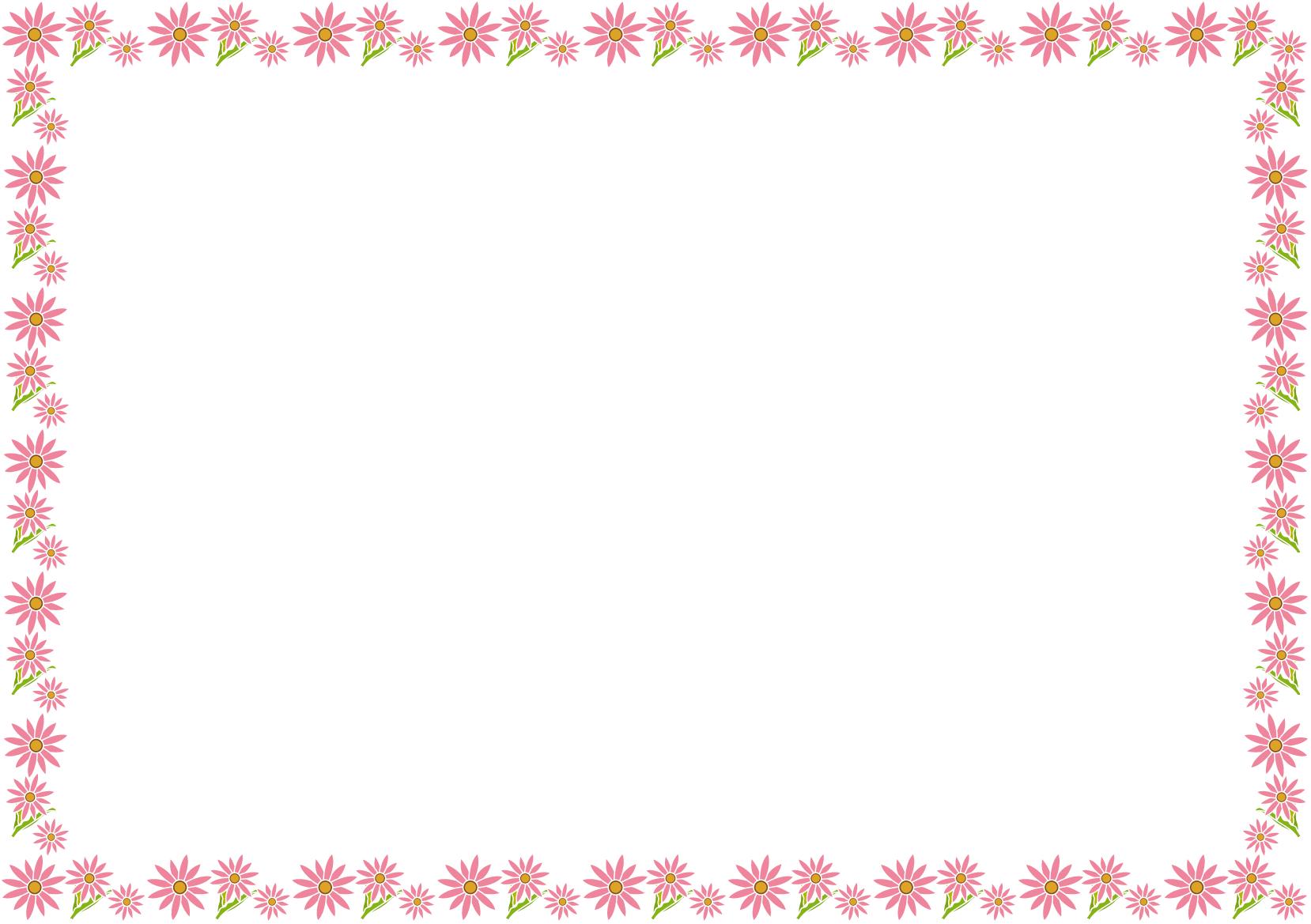 春の花の飾り枠01 アークトーチスイラスト 花の飾り 飾り枠 花 イラスト