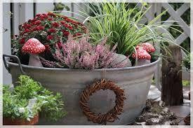 Bildergebnis für zinkwanne bepflanzen - #bepflanzen #Bildergebnis #für #Zinkwanne #herbstdekoeingangsbereichdraussen