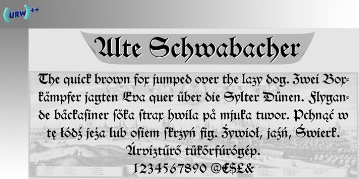 Alte Schwabacher font download