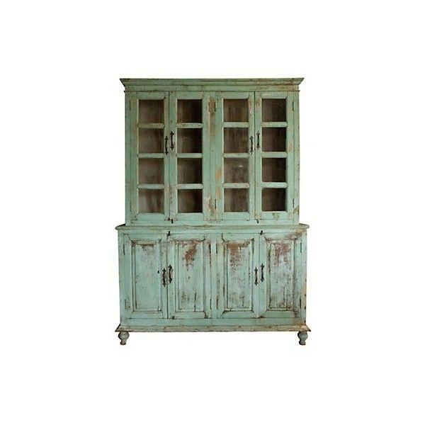 distressed wood cabinet found on polyvore my house ideas rh za pinterest com