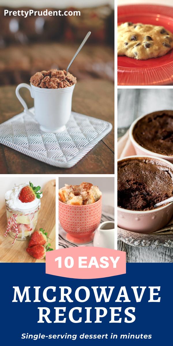 10 Single Serving Microwave Desserts Microwave Dessert Microwave Recipes Dessert Easy Microwave Recipes