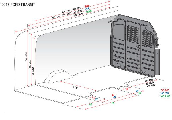 Awesome Cargo Van Interior Dimensions 11 2015 Ford Transit Van Dimensions Rv Ideas