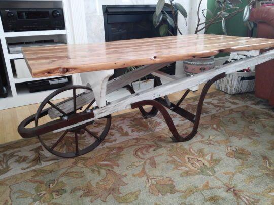 Wheelbarrow Coffee Table House Pinterest Coffee Tables And - Wheelbarrow coffee table