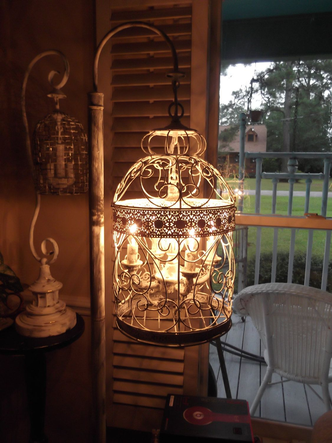 country chic lighting. Chandelier Floor Lamp ,vintage Bird Cage Light Shabby Chic\u2026 Country Chic Lighting W