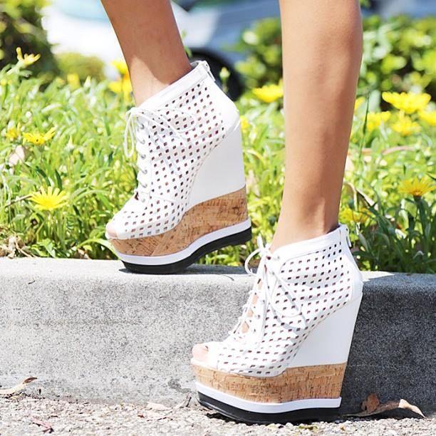 Fashion white platform #shoes