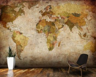 Old style world map wall mural wallpaper wallpaper wall murals enjoy a map wallpaper mural in a variety of styles from stylised typographic maps to ancient world maps our wallpaper murals are made to measure gumiabroncs Gallery