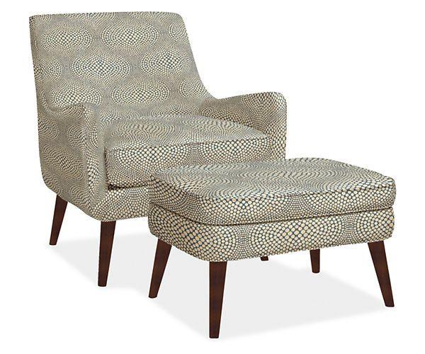 Quinn Chair U0026 Ottoman In Mirror Fabric   York Sofa Room   Living   Room U0026  Board