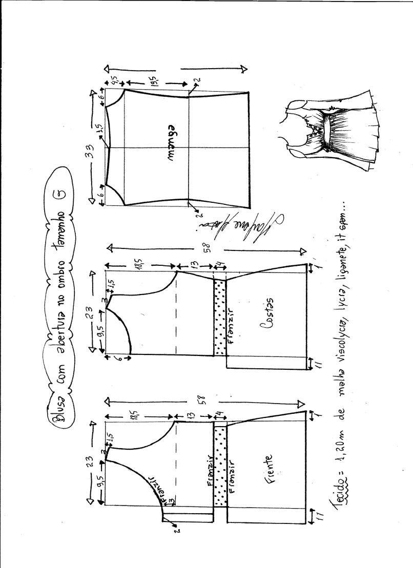 Patrón de Blusa con abertura en el hombro | embarazo | Pinterest ...