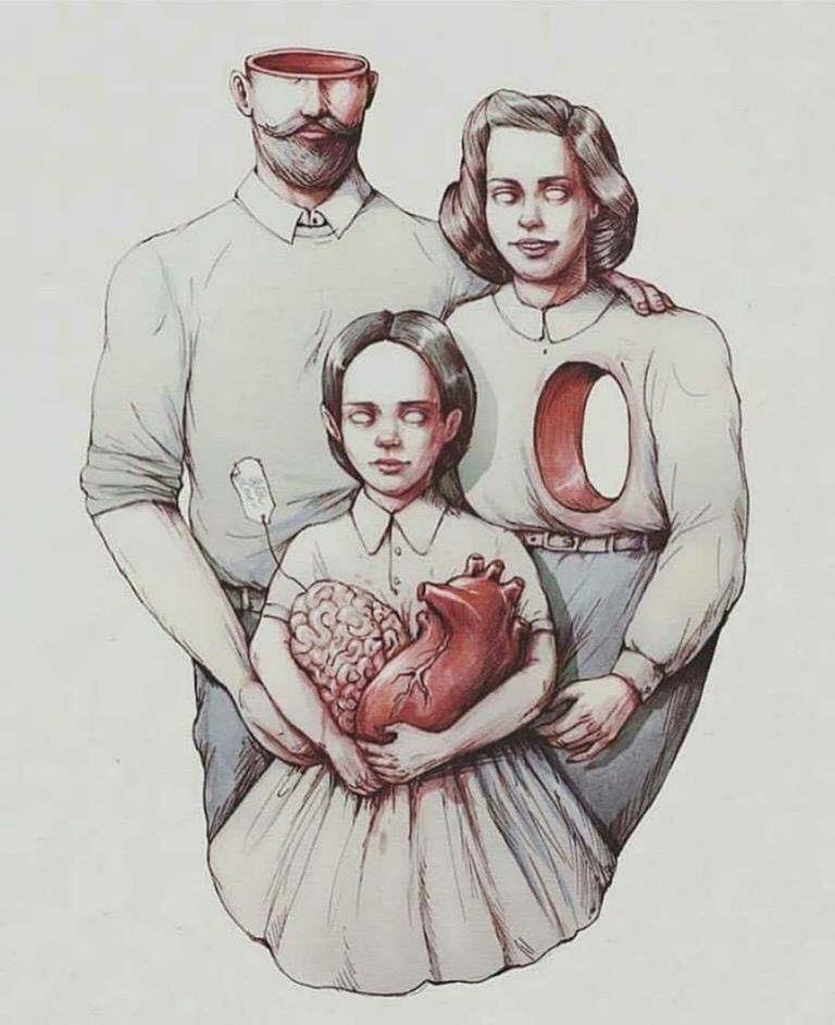 Смешной девчонки, семейные картинки со смыслом нарисованные