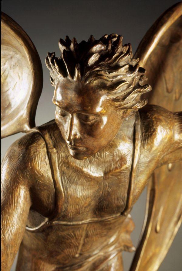 Bronze Sculpture Of Men By Artist Felix Velez Titled -9058