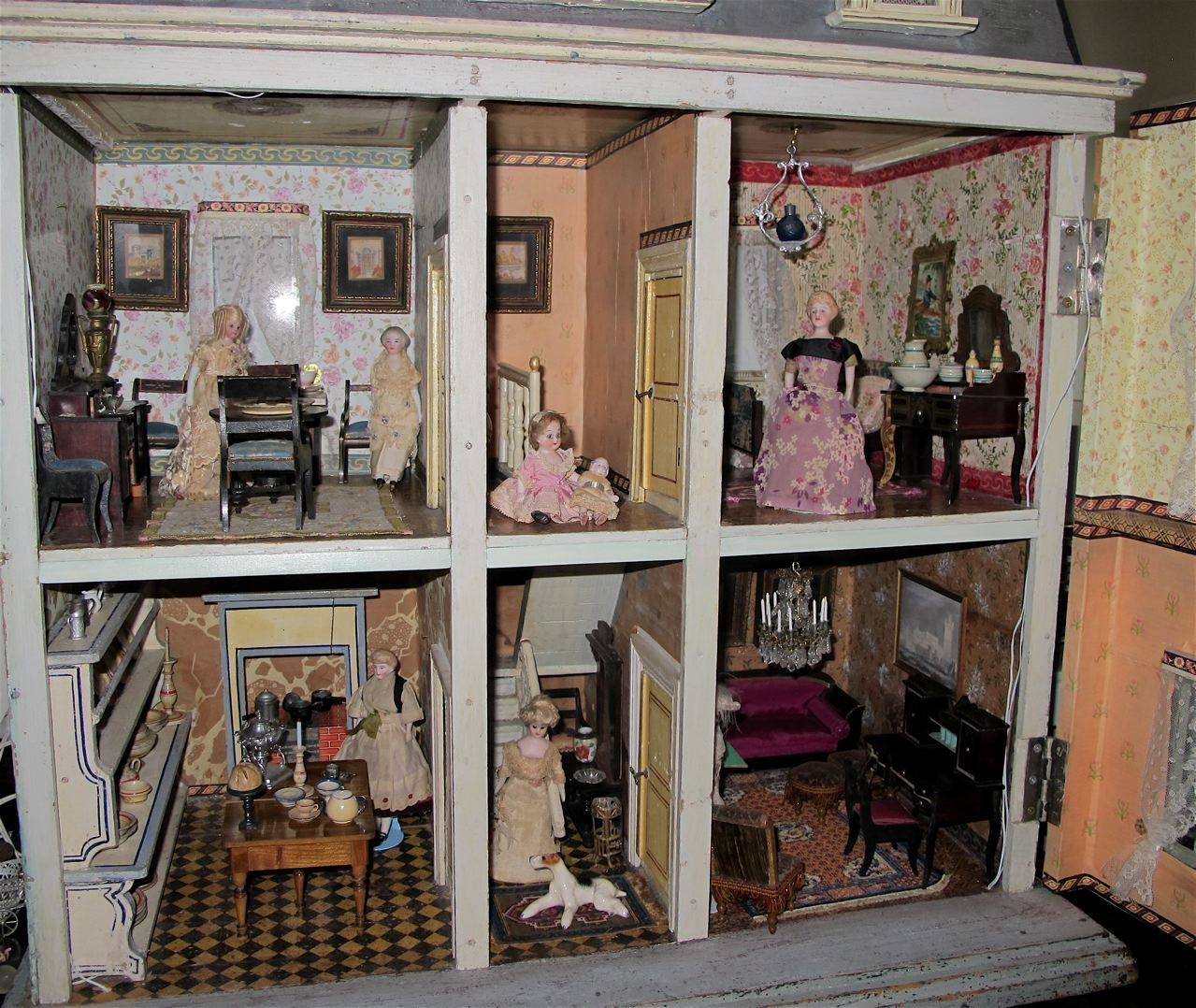A Christian Hacker House Ca  By Susan Hale Dolls Houses - Dolls house interior