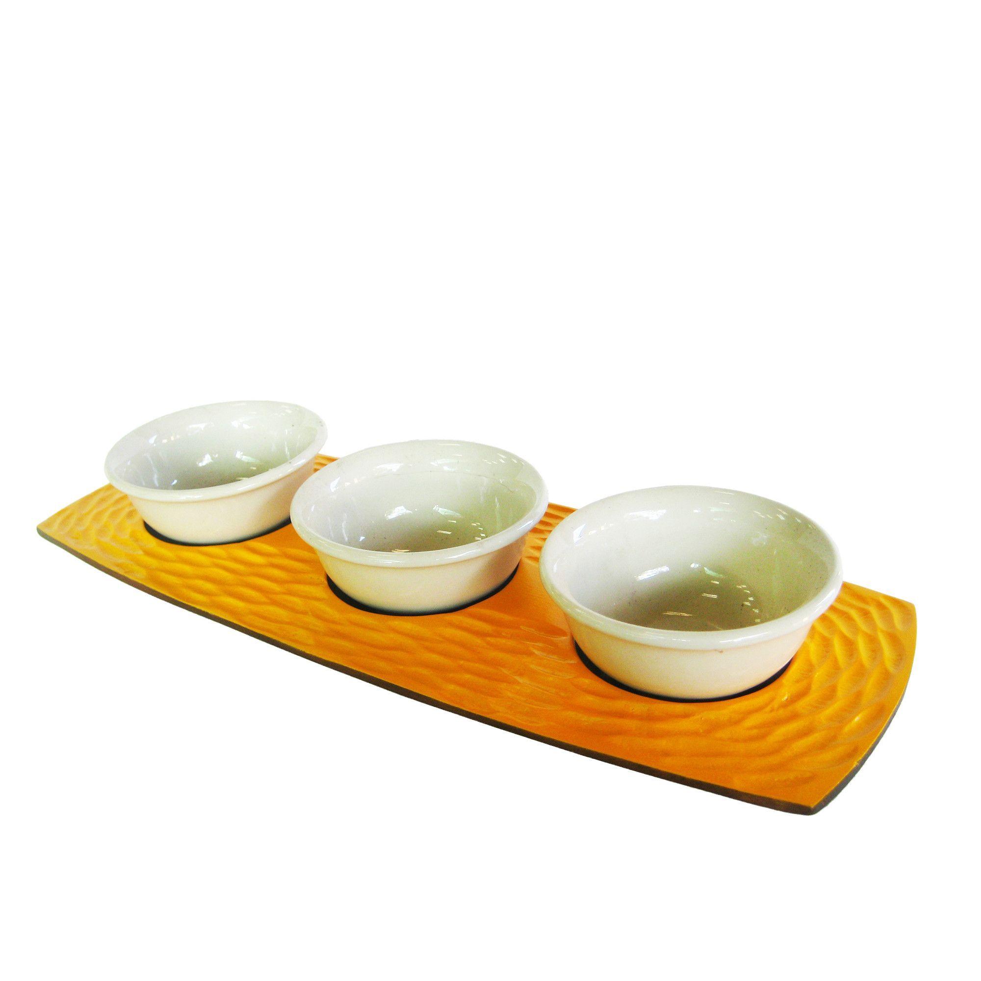 Honeycomb 4 Piece Serving Bowl Set