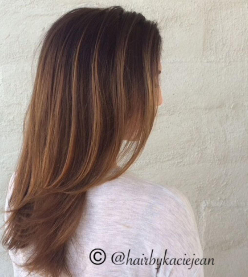 Hair layers brunette balayage sunkissed allure pinterest