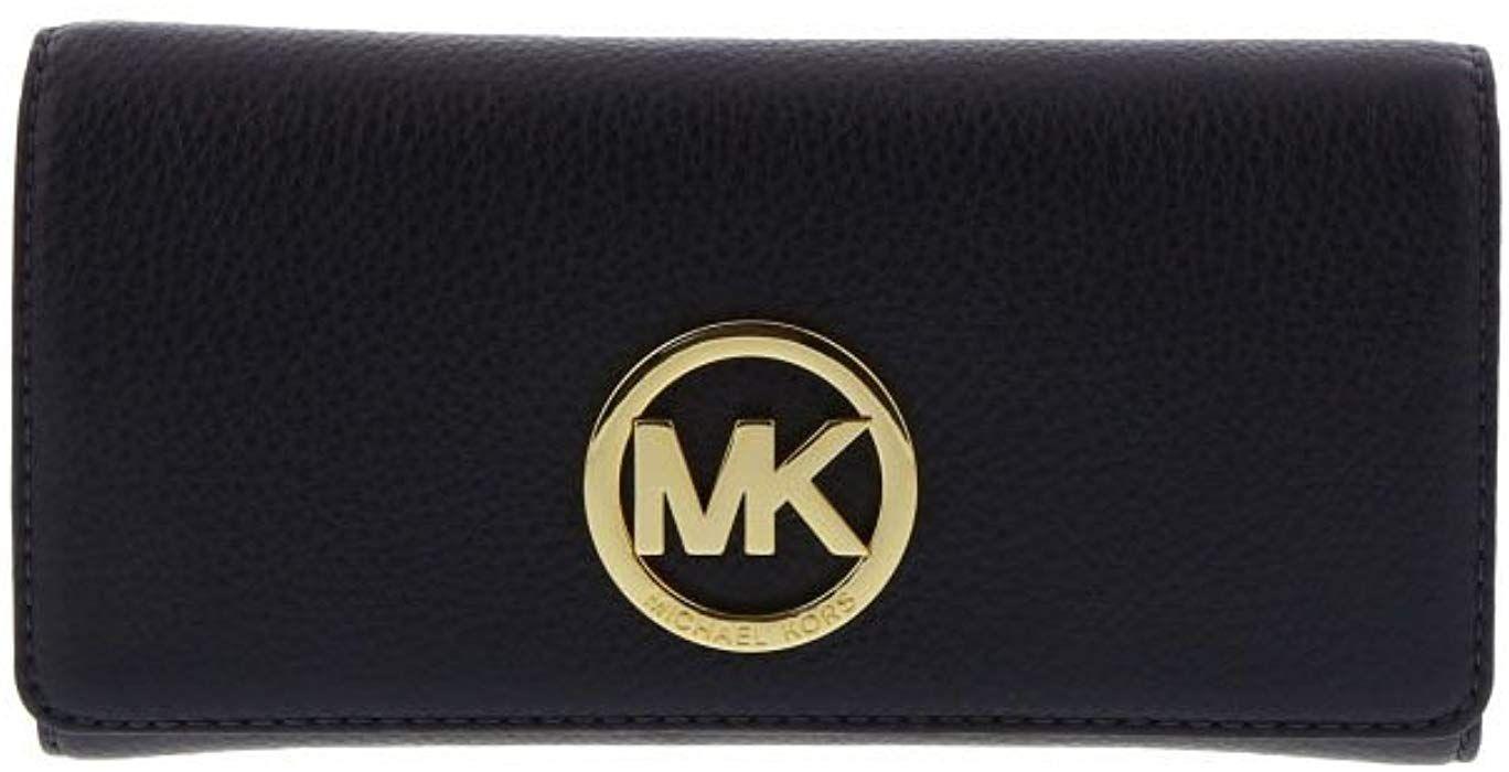 Michael michael kors fulton leather carryall card holder