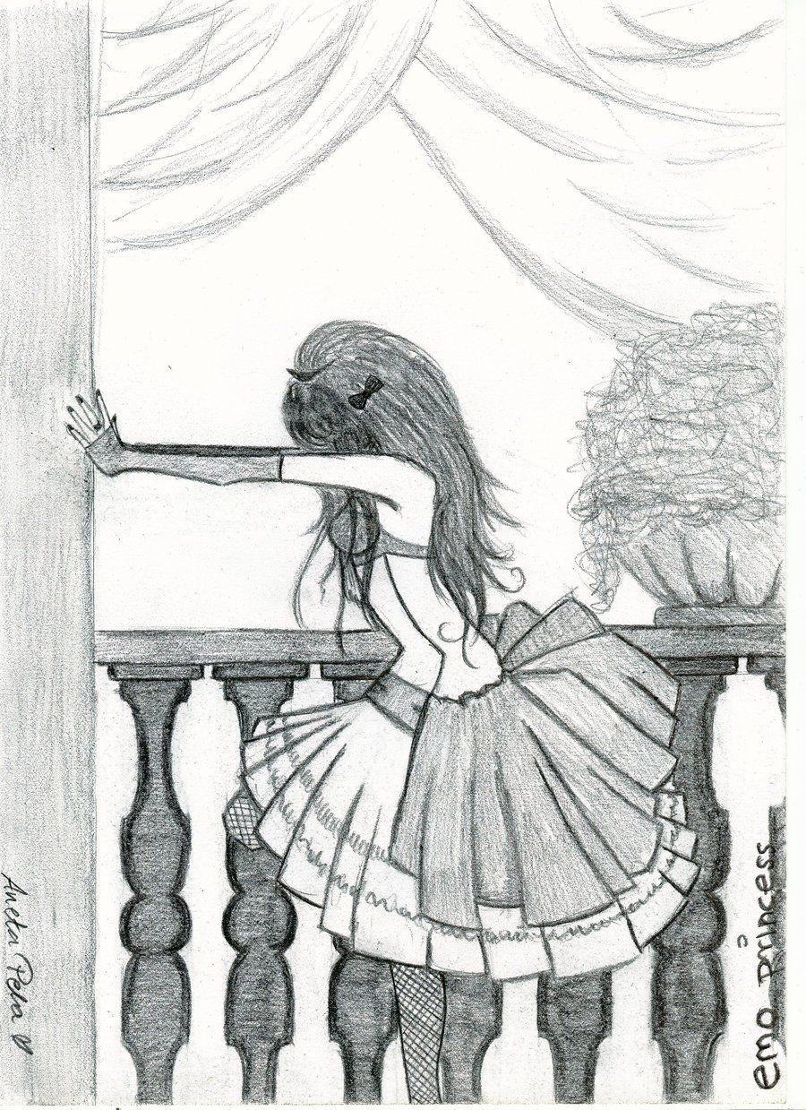 Emo drawings emo princess by aneta177 digital art drawings paintings people