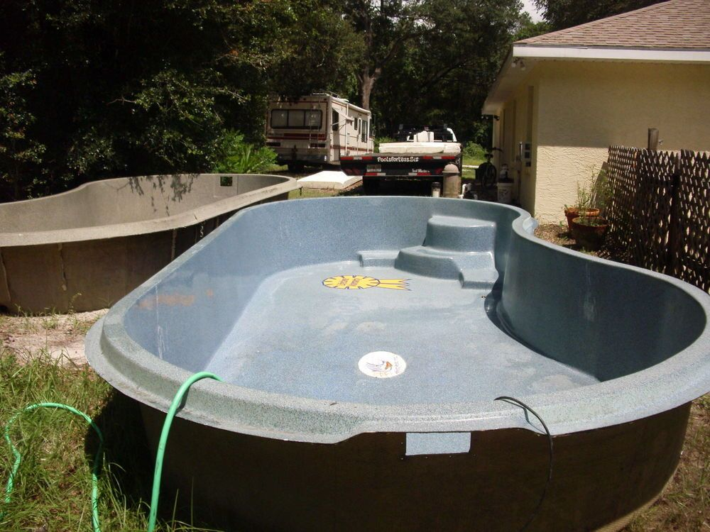 Inground Fiberglass Swimming Pools 10 39 X20 39 X28 Inches Deep 3750 Each Water Fountains Indoors