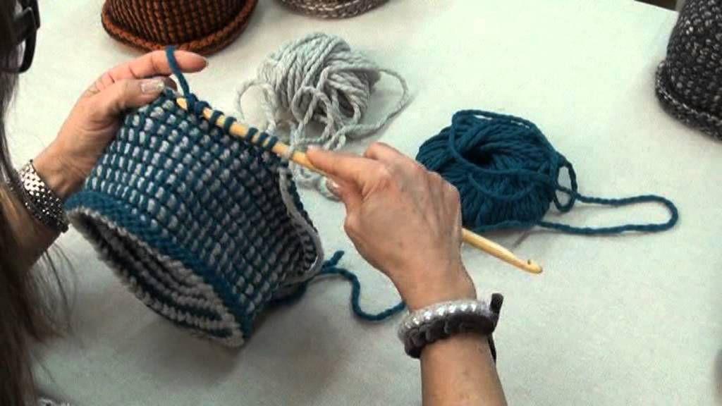 prodotti caldi personalizzate negozio di sconto Video-tutorial per cappello in lana con punto tunisi ...