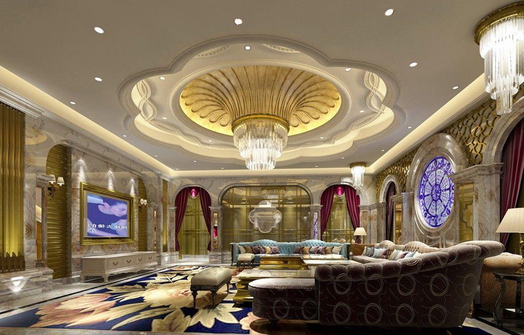 Luxurious gypsum ceiling for modern home interior - Modern luxury interior design ideas ...