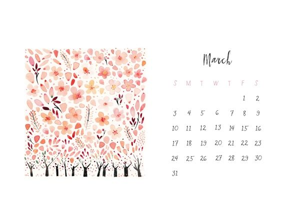 March Calendar Desktop Wallpaper Desktop Calendar Desktop Wallpaper Calendar New Wallpaper Iphone
