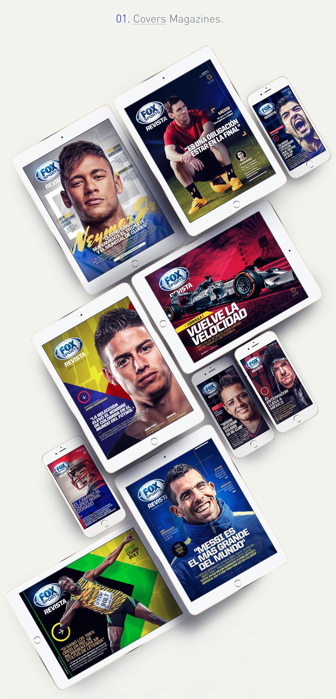 """Check out this Behance project """"FOX Sports Digital"""