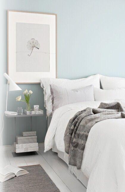 White Gray Light Mint Home Bedroom Bedroom Wall