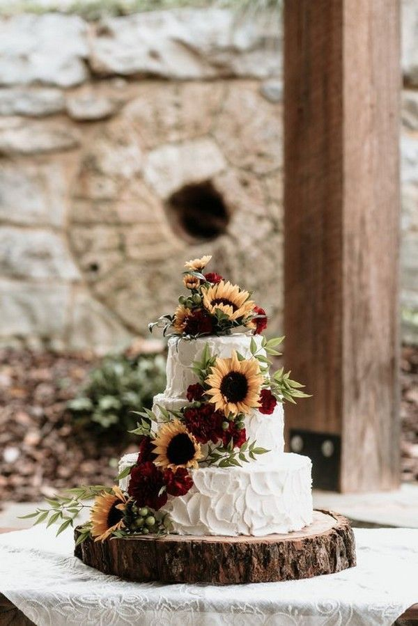 29 Rustic Wedding Cake Ideas To Rock - Page 14 of 29 - Yes Delicious!