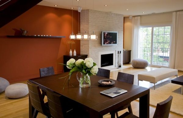Great Dining Room Accent Wall Open Dining