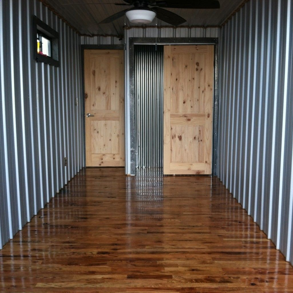 Simple Shipping Container Homes: 40ft Converted Shipping Container House, Cabin,off Grid