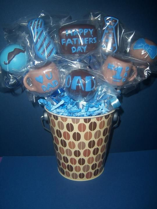 Father S Day Cake Pops With Images Fathers Day Cake Fathers