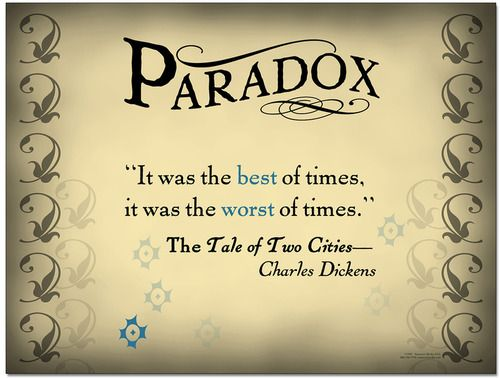 Paradox English Classroom Poster With Literary Quote Pinterest