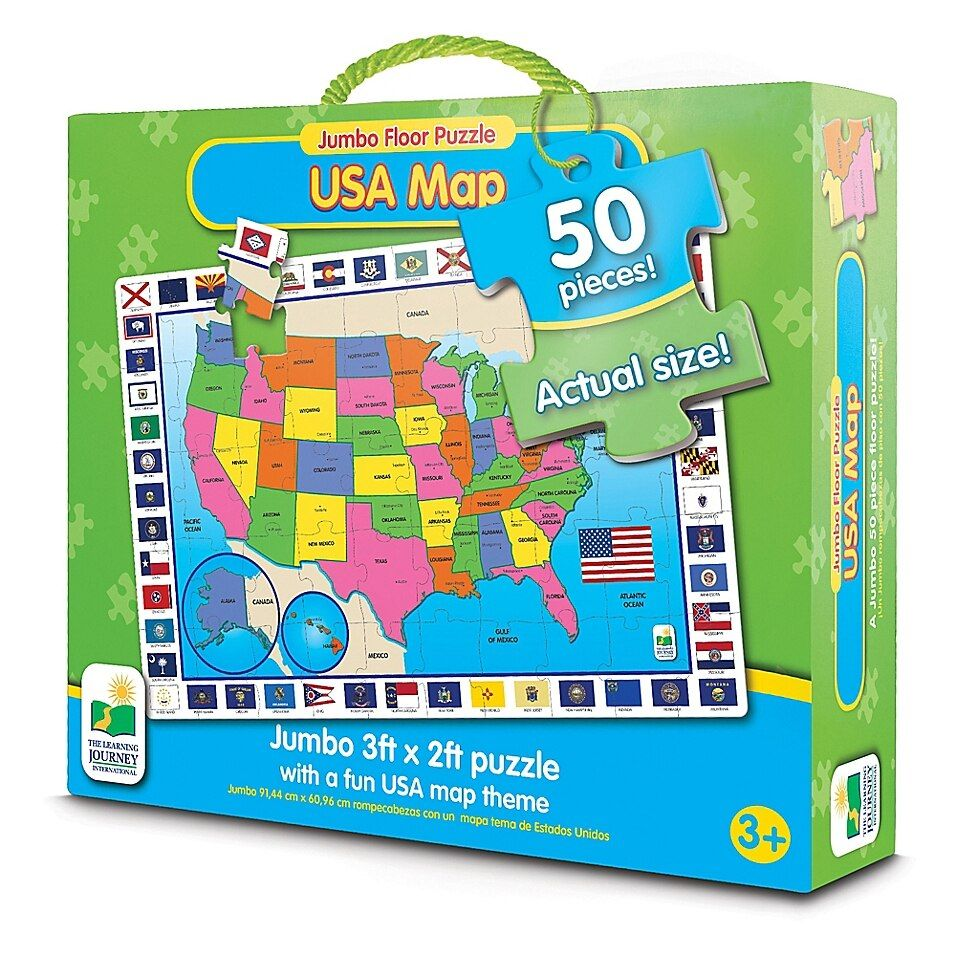 The Learning Journey USA Map Jumbo Floor Puzzle in 2020