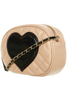 Patent Heart Cross Body Bag - StyleSays