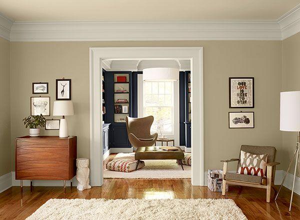 Shaker Beige Bm Living Room Orange Living Room Wall Color Neutral Living Room