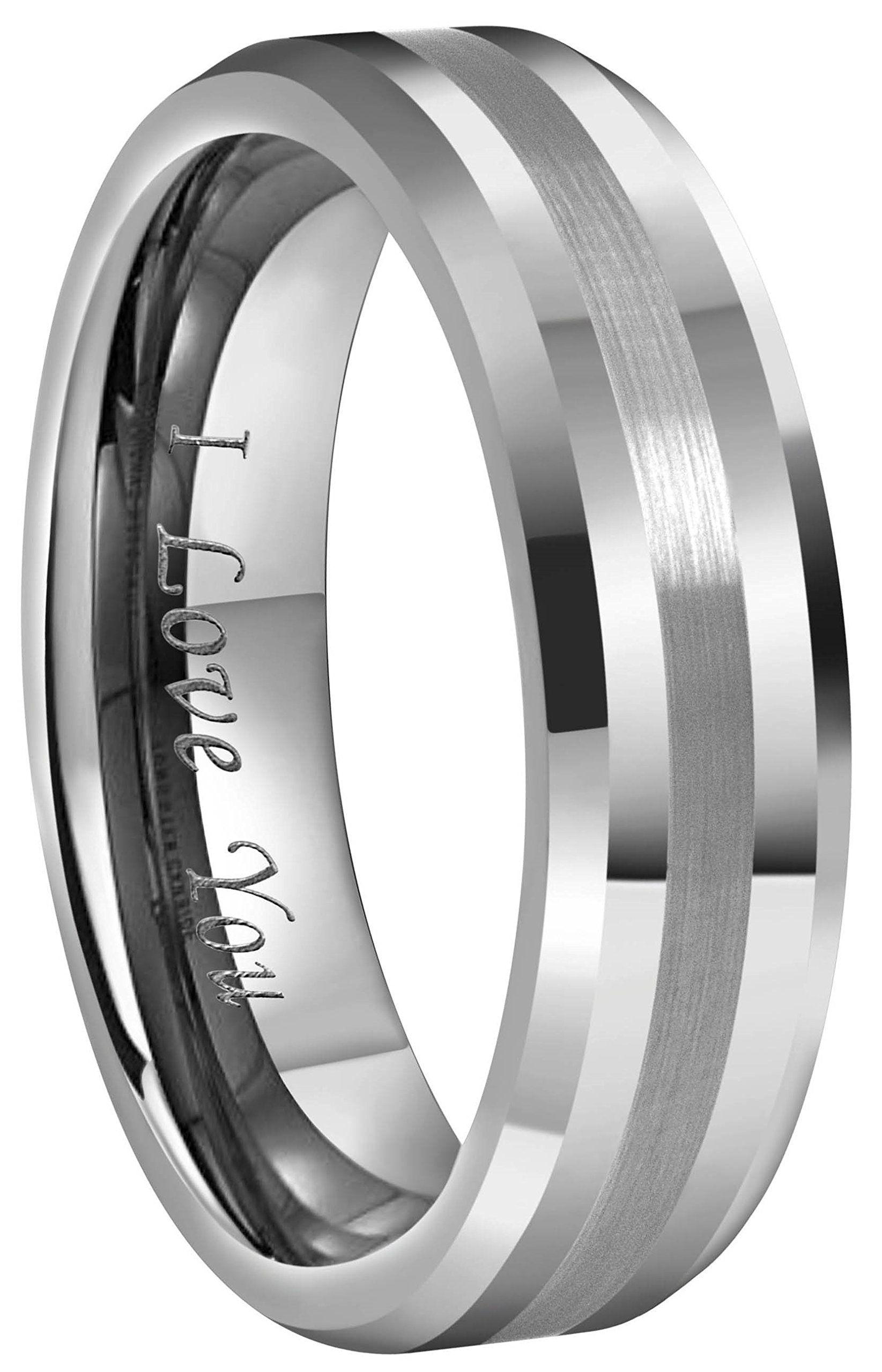 CROWNAL 6mm 8mm 10mm Silver/Gold Tungsten Carbide Wedding