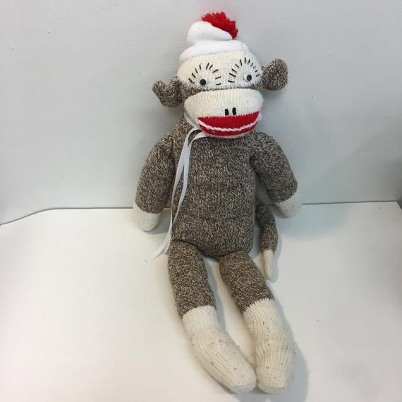 Tattered Vintage Handmade SOCK MONKEY #sockmoneky Tattered Vintage Handmade SOCK MONKEY #sockmoneky