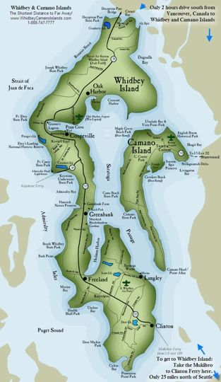 Whidbey Island Map Whidbey Island   Oak Harbor, WA   Kid friendly activity reviews  Whidbey Island Map