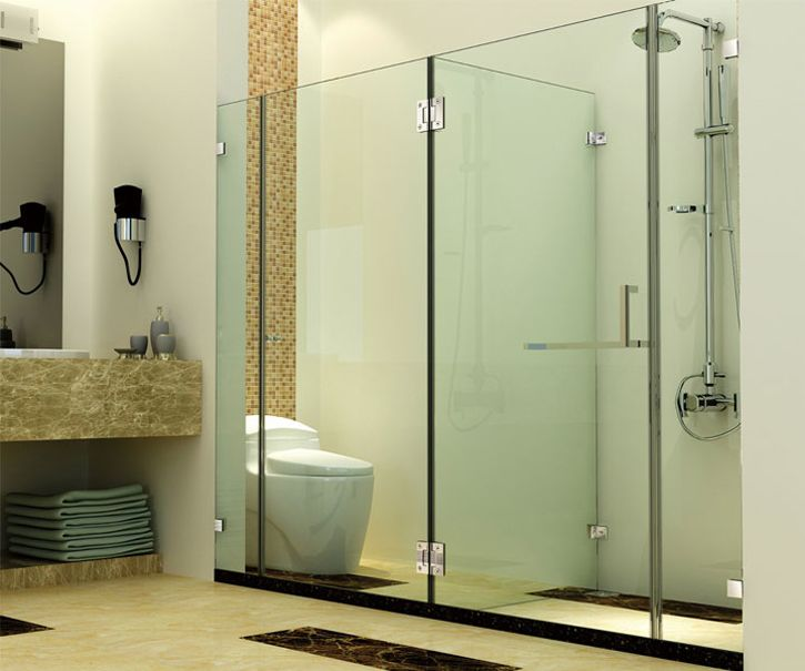 Glass Clamps Are Used To Fix The Glass Panels To Wall Or Glass To Glass Yumore Offers A Full Line Of Glass Door Hinges Glass Bathroom Steel Shower Enclosure