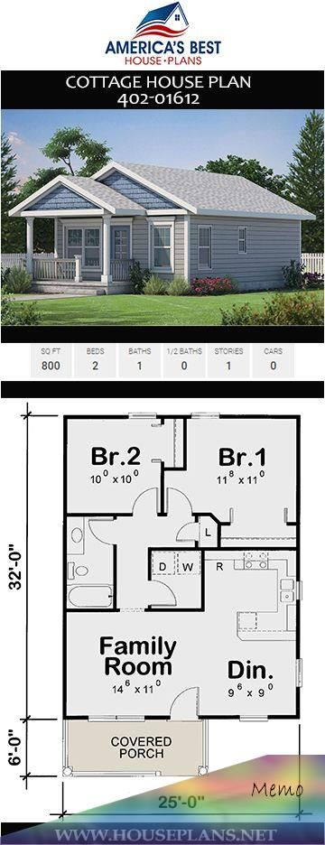 Aug 2 2019 Enjoy The Coziness Of This 800 Sq Ft Cottage House Plan 402 01612 Offers 2 Bedrooms 1 Bathroo Cottage House Plans Cottage Plan Backyard House