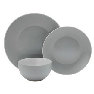 Buy ColourMatch Two Tone 12 Piece Dinner Set Dove Grey at Argos
