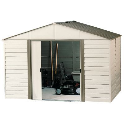 10 Ft X 12 Ft Vinyl Milford Outdoor Storage Sheds Metal Storage Sheds Vinyl Sheds