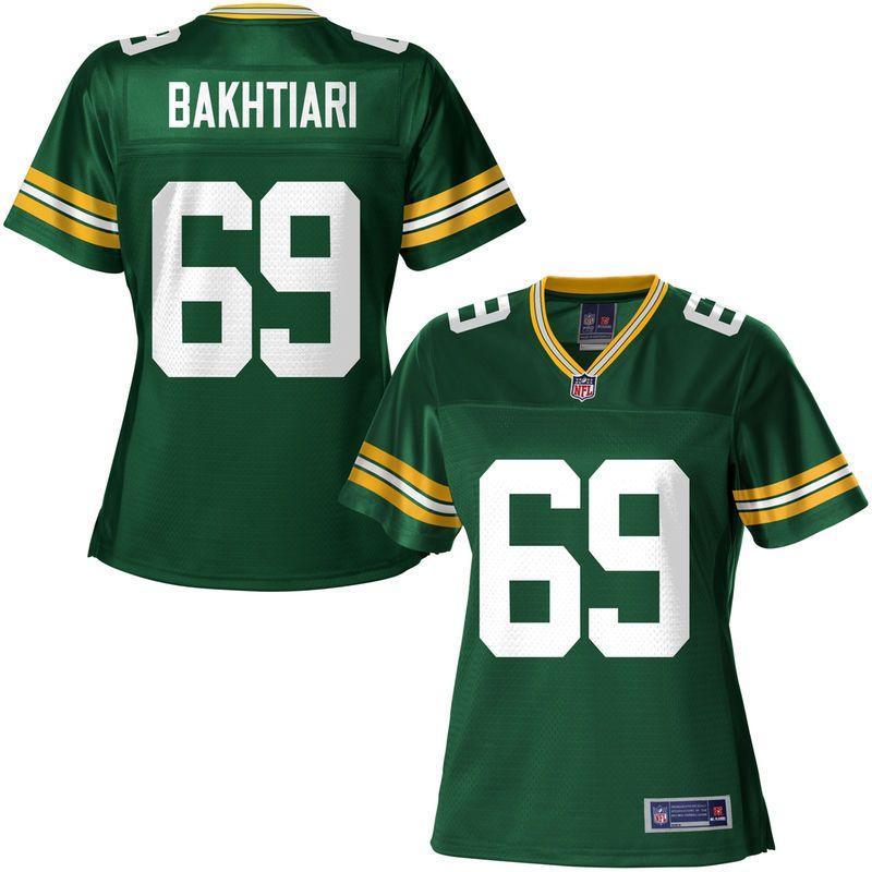 ... NFL Pro Line Womens Green Bay Packers David Bakhtiari Team Color Jersey  Mens Nike Green Bay Packers 69 ... 97cbd7950