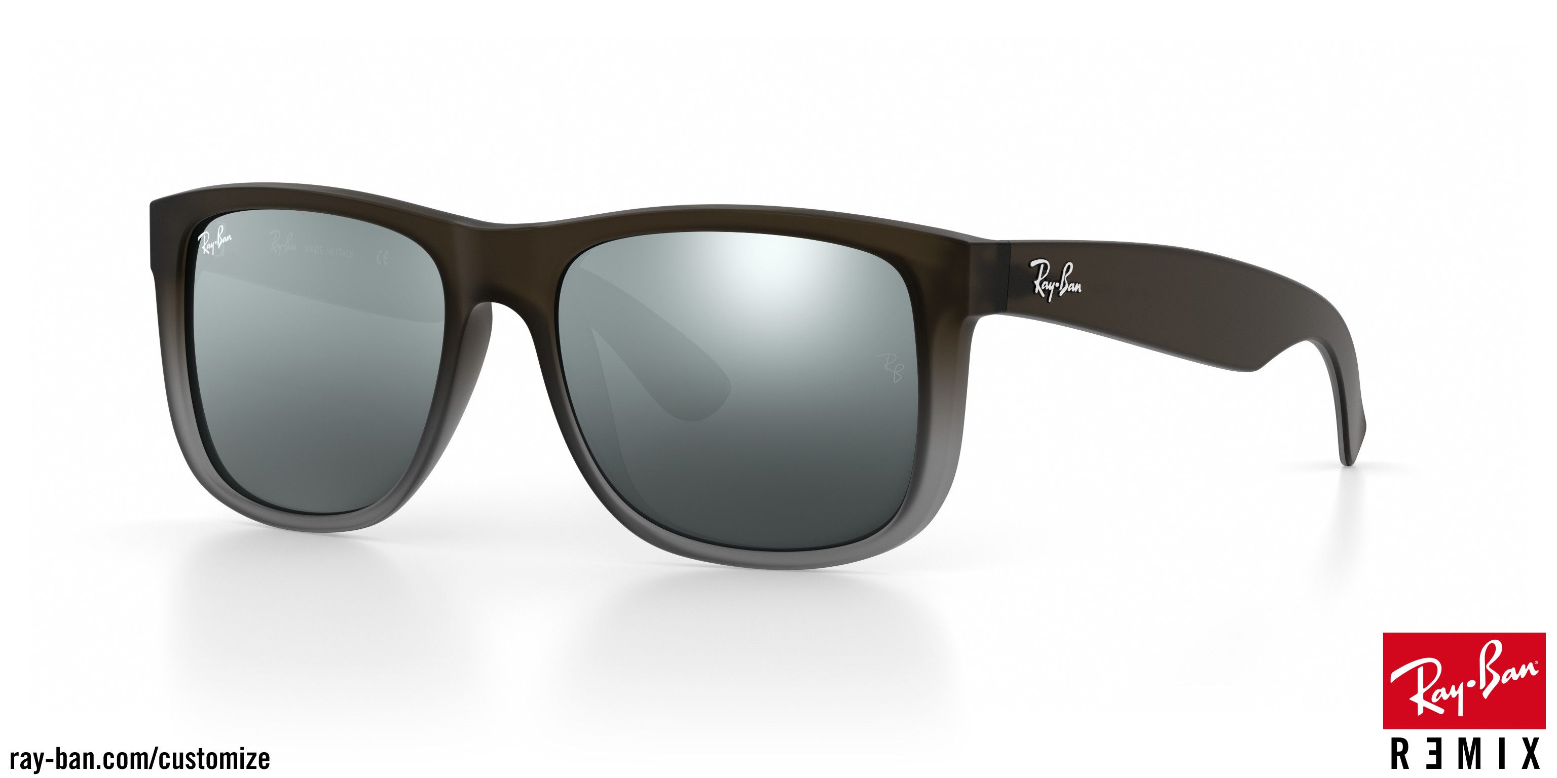 0d1cf21e64 Ray-Ban Justin - semi transparent brown on grey rubber | I Like ...