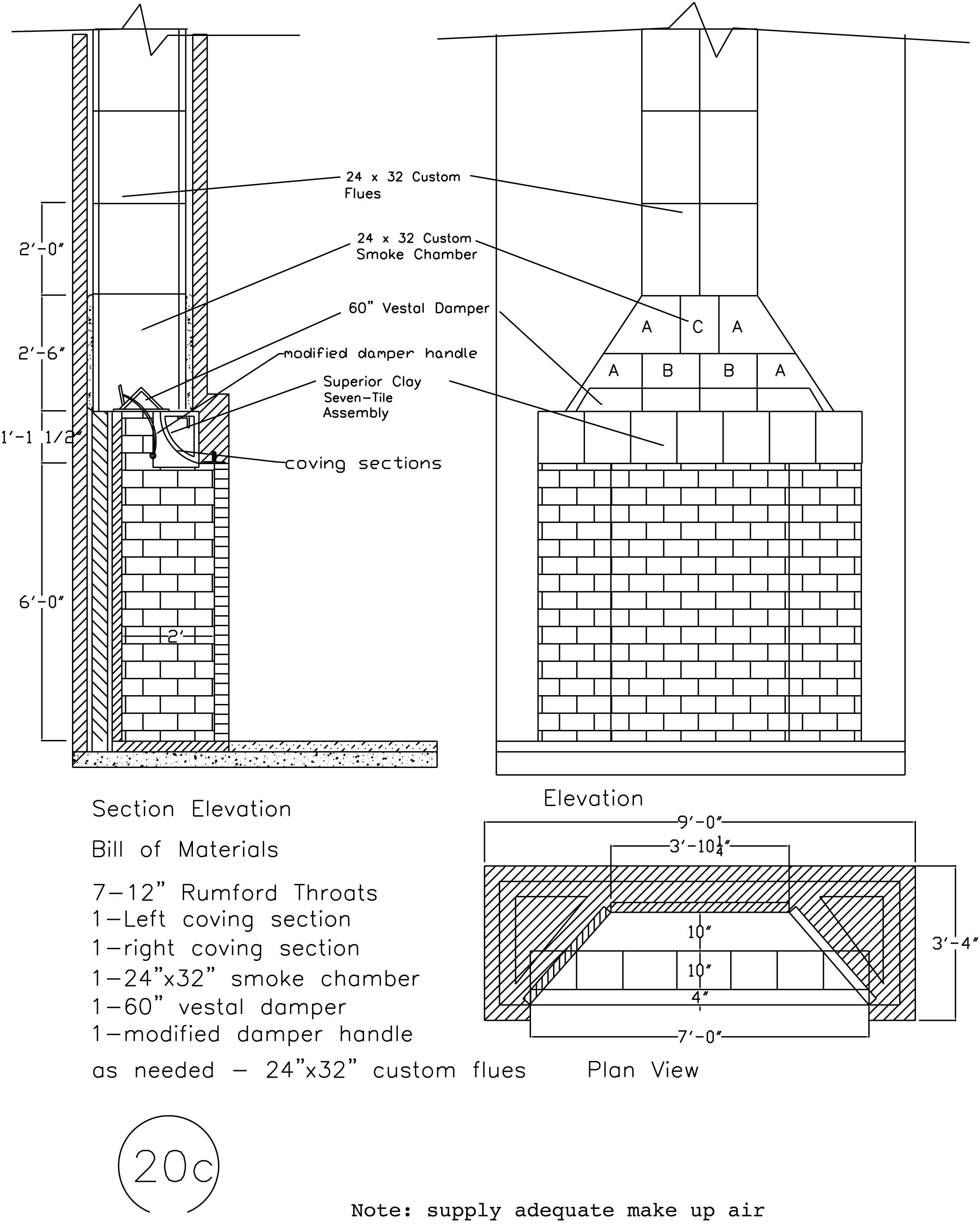Rumford Fireplace Plans Instructions Chimney Design Masonry Fireplace Rumford Fireplace