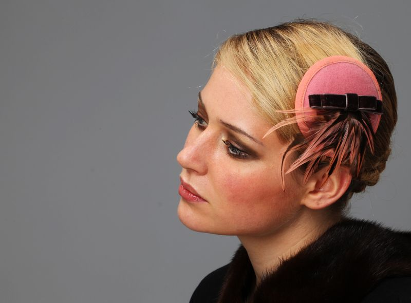 some melancholia in dusty rose... one more headpiece for fashionistas