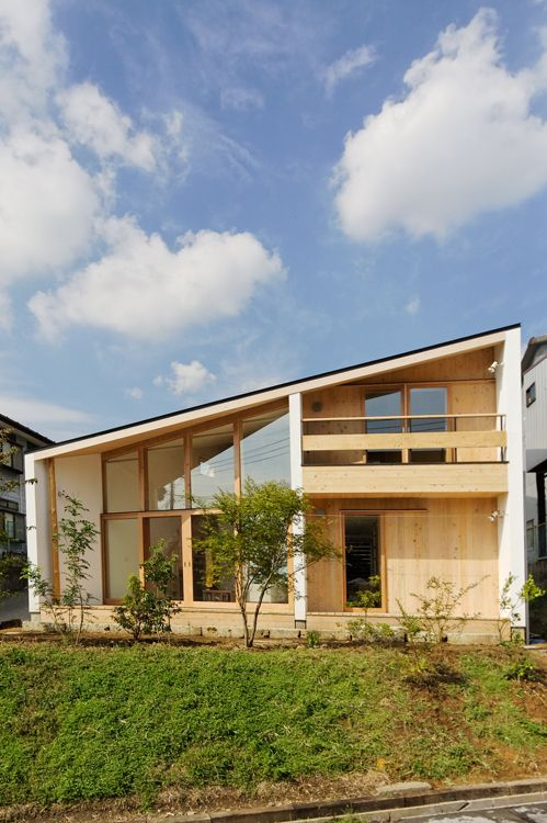 dandan1 house with mono pitch roof wooden home architecture