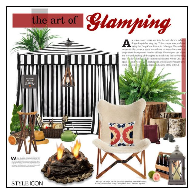 """The Art of Glamping"" by yumadh ❤ liked on Polyvore featuring interior, interiors, interior design, home, home decor, interior decorating, TradeMark, NDI, Pottery Barn and Bloomingville"