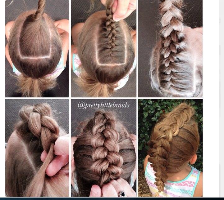 долгое время плетение кос фото пошагово для начинающих детям прокалывают
