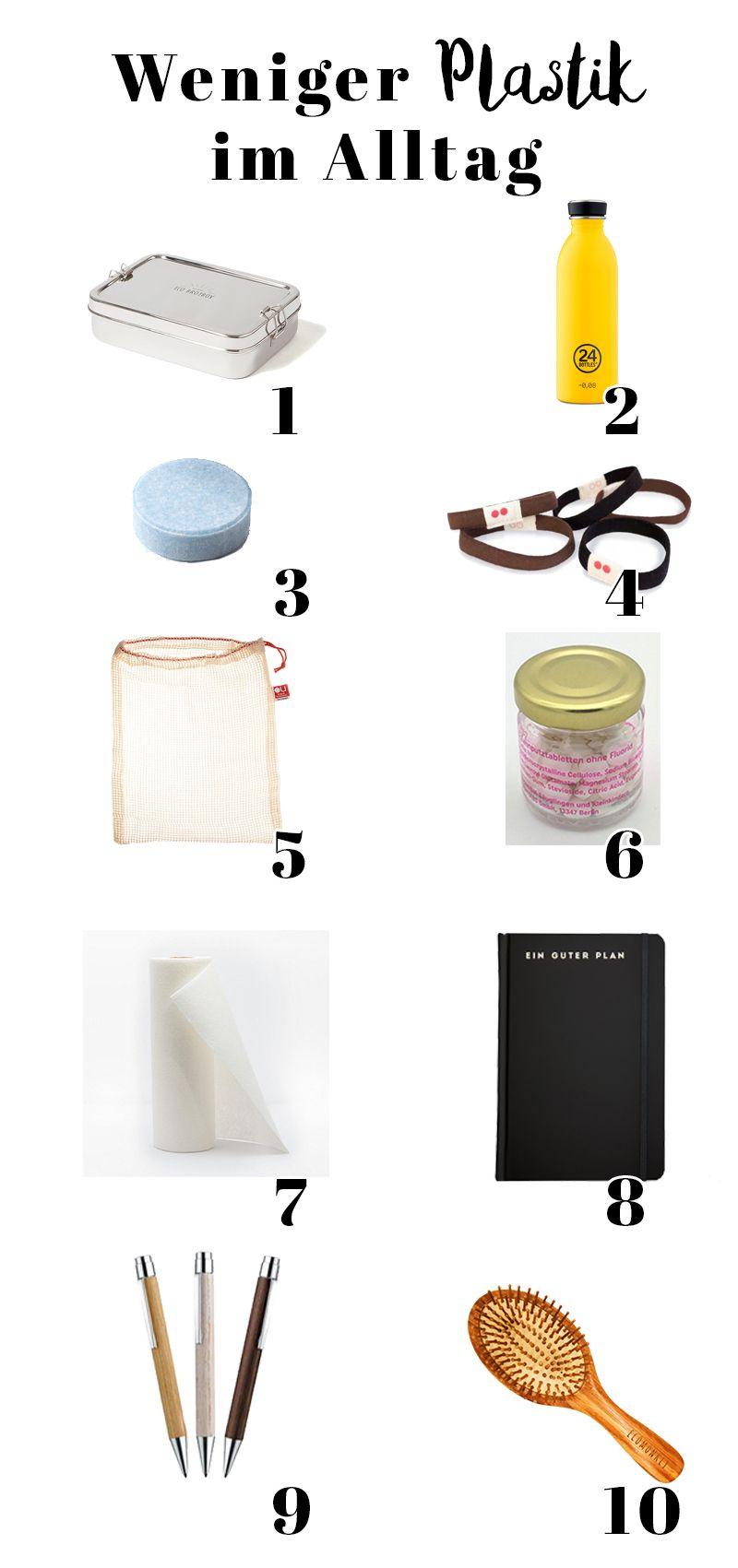 Weniger Plastik im Alltag // 10 Alternative Produkte für ...