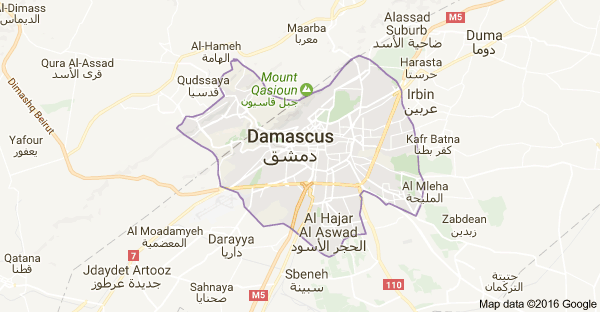Map of Damascus, Syria | Thelma | Pinterest | Damascus and Google