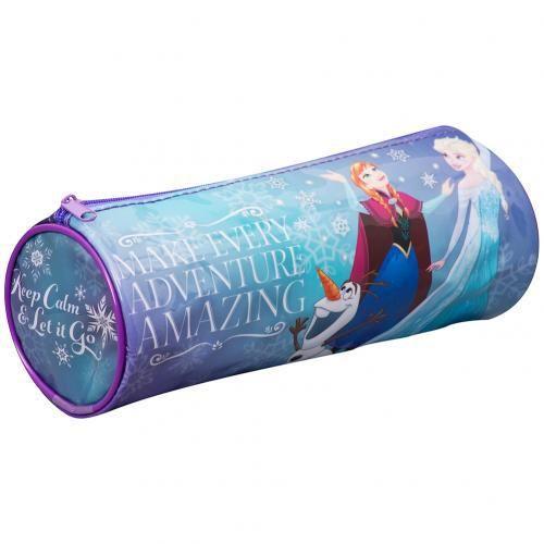– PVC barrel pencil case- metal zip – approx 20cm x 8cm x 8cm- with swing tag- official licensed product #disneyfrozen #frozengifts #frozenmerchandise #frozenthemovie #frozen #birthday #gift